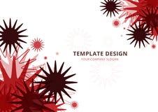 Bakgrund malldesign, geometrisk röd signal vektor illustrationer