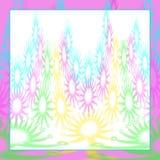 Bakgrund med abstrakt begrepp-typ mosaik-som design i blom- pastell stock illustrationer