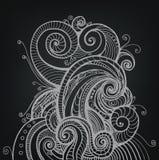 Bakgrund med abstrakt hand dragen form Royaltyfri Fotografi