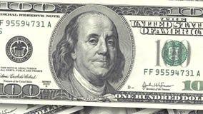 Bakgrund med amerikanska räkningar för pengar kontant pengarbakgrund snabb rotation av den pappers- dollarnärbilden arkivfilmer