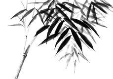 Bakgrund med bambustammar det växta filialstaketdiagramet har nära ny gammal tree stock illustrationer