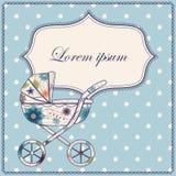 Bakgrund med barnvagn Royaltyfri Foto