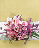 Bakgrund med blommor 2 Arkivbild
