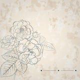 Bakgrund med buketten av rosor royaltyfri illustrationer