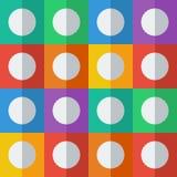 Bakgrund med cirklar i plan symbolsstil Arkivfoton