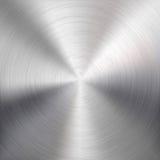 Bakgrund med cirkuläret belägger med metall borstat texturerar Arkivbilder