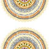 Bakgrund med dekorativt snör åt Royaltyfri Illustrationer