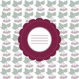 Bakgrund med den abstrakta körsbäret och ramen Royaltyfria Bilder