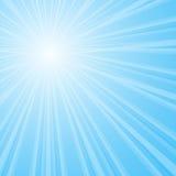 Bakgrund med den glänsande stjärnan med den avvikande packen Royaltyfria Bilder