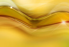 Bakgrund med den gula vågen av energi Royaltyfri Fotografi