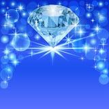 Bakgrund med den ljusa skinande diamanten och ställe för text Arkivbilder