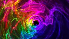 Bakgrund med den mångfärgade glödande tunnelen Arkivfoton