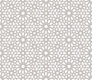 Bakgrund med den sömlösa modellen i arabisk stil royaltyfri illustrationer