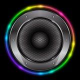 Bakgrund med den Sound högtalaren Arkivfoto