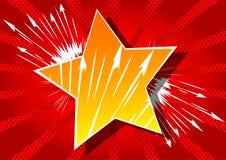 Bakgrund med den stora stjärnan som fylls med humorbokeffekt vektor illustrationer