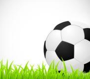 Bakgrund med en fotbollboll vektor illustrationer