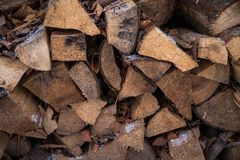 Bakgrund med en modell av trä royaltyfri fotografi