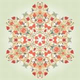 Bakgrund med en rund blom- delikat prydnad Royaltyfria Bilder