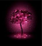 bakgrund med en tree Arkivfoto