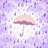 Bakgrund med ett paraply och ett regn Royaltyfria Foton