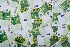 Bakgrund med euroräkningar Royaltyfria Foton