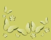Bakgrund med fjärilar Royaltyfri Illustrationer