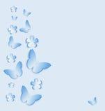 Bakgrund med fjärilar Royaltyfria Bilder