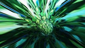 Bakgrund med flyg i science fictiontunnel med fantastiska ljus Fotografering för Bildbyråer