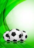 Bakgrund med fotbollbollar royaltyfri illustrationer