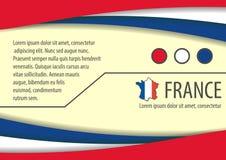 Bakgrund med franska färger och fritt utrymme för din text vektor illustrationer