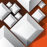 Bakgrund med fyrkanter. stock illustrationer