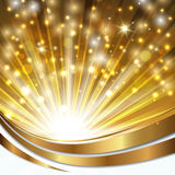 Bakgrund med guld- Royaltyfri Fotografi