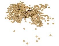 Bakgrund med guld- av myntar Royaltyfri Fotografi