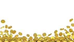 Bakgrund med guld- mynt Royaltyfri Fotografi