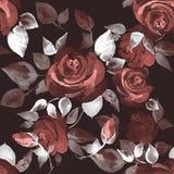 Bakgrund med härliga rosor 14 Arkivfoto