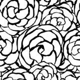 Bakgrund med hand drog försiktiga rosor Arkivfoton