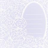 Bakgrund med hand drog försiktiga rosor. Vektorillustration Arkivfoto