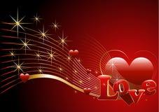 Bakgrund med hjärta och förälskelse. Stock Illustrationer
