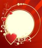 Bakgrund med hjärtor Vektor Illustrationer