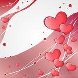 Bakgrund med hjärtor Arkivfoton
