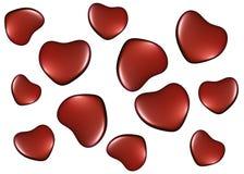 Bakgrund med hjärtor på valentin dag Arkivbilder