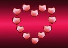 Bakgrund med hjärtor på valentin dag Arkivfoton