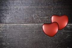 Bakgrund med hjärtor på valentin dag Royaltyfri Fotografi