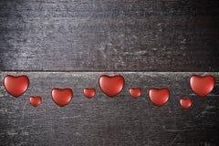 Bakgrund med hjärtor på valentin dag Royaltyfri Foto