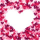 Bakgrund med hjärtor, vektorillustration vektor för valentin för form för modell s för hjärta för gåva för ram för kortdagdesign  royaltyfri illustrationer