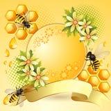 Bakgrund med honungskakan Arkivbild