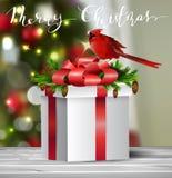 Bakgrund med julbollen Arkivbilder