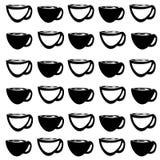 Bakgrund med kaffekoppar royaltyfri illustrationer