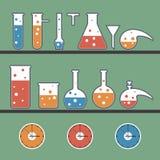 Bakgrund med kemiska ware vektor illustrationer