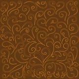 Bakgrund med krökta linjer i varma bruna signaler vektor illustrationer